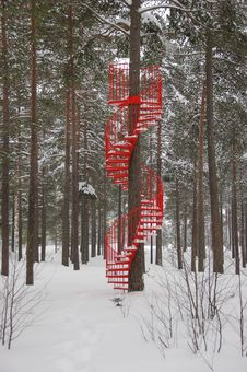 Free Red Staircase Royalty Free Stock Images - 23499949