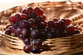Free Ripe Grapes In A Basket Stock Photography - 2350962