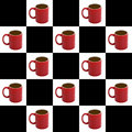 Free Checkered Coffee Background Royalty Free Stock Photography - 2352767