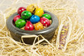 Free Colorful Eggs In Bowl Royalty Free Stock Photo - 2354845