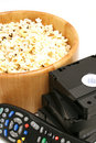 Free Popcorn & Video W/remote Contr Stock Images - 2355104