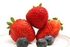 Free Strawberries & Blueberries Stock Image - 2350071