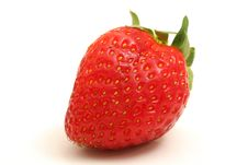 Free Single Strawberry On White Stock Photos - 2350073