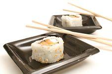 Free Two Pieces Of Smoked Salmon Su Royalty Free Stock Image - 2350226