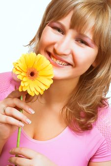 Free Blondy With A Flower Royalty Free Stock Photo - 2350315