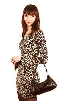 Free Woman With Bag Stock Image - 2350681