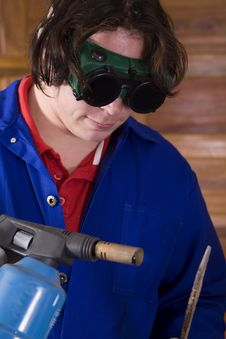 Free Blowtorch Worker Stock Image - 2350761