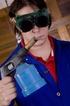 Free Blowtorch Worker Stock Images - 2350854