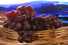 Free Grapes With Leaf And Wine Royalty Free Stock Images - 2350999