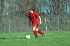 Girl At Soccer Field 13 Stock Image