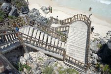 Free Stairs To The Beach Royalty Free Stock Photos - 2351908