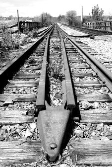 Free Old Railroad Tracks Stock Photo - 2352350