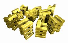 Free Gold_stack_5A Stock Image - 2356181