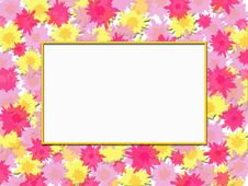 Free Floral Frame Painted Stock Image - 2356281