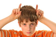 Free Young Boy With Horns Royalty Free Stock Photography - 2356457