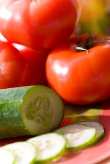 Free Tomatoes And Cucumber Royalty Free Stock Image - 2356716