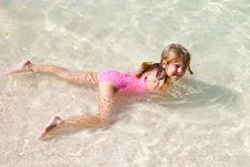 Free Girl In The Water Royalty Free Stock Image - 2357036