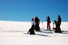 Free Ski Touring Group Royalty Free Stock Image - 2358096