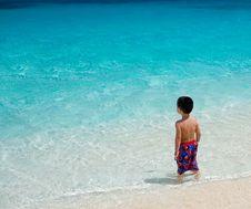 Free Boy Meets Ocean Royalty Free Stock Image - 2358396