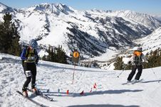 Free Ski Race Check Point Royalty Free Stock Image - 2359306
