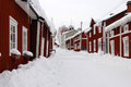 Free Snowy Street In North Sweden Stock Photo - 23500010