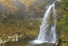 Free Plattekill Falls In Misty Ravine Royalty Free Stock Photo - 23500165