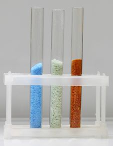 Tubes With Various Crystals Stock Images