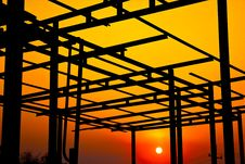 Free The Structure Of The Roof. Royalty Free Stock Photo - 23500335