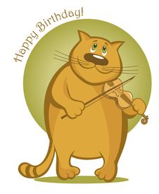 Free Smiling Cat Playing The Violin Stock Image - 23505891