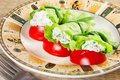 Free Tasty Snack: Lettuce Stuffed With Cheese Stock Photos - 23519563
