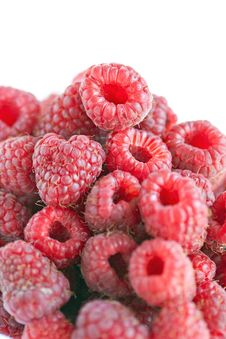 Free Bowl Of Raspberries On Wooden Table Close Up Stock Photos - 23510003