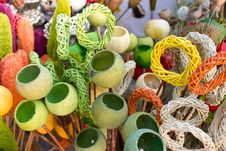 Free Colored Wickerwork And Poppy Pods Stock Photo - 23511450