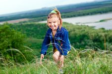 Free Beautiful Little Girl Outdoors Stock Photo - 23512140