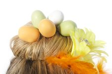 Free Easter Egg Nest Stock Image - 23512831