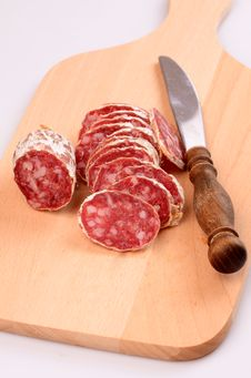 Free Sliced Salami Stock Images - 23513014