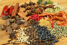 Spices Composition Royalty Free Stock Photography