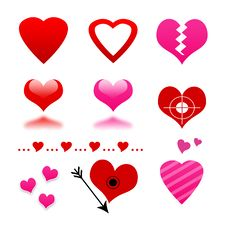 Free Heart Set Stock Photo - 23515230