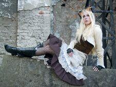 Free Steampunk Blond Girl Stock Image - 23515261