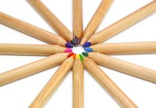 Free Colored Pencils Royalty Free Stock Photo - 23515315