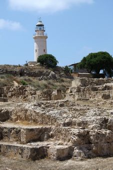 Free Paphos Light House Royalty Free Stock Photography - 23515427