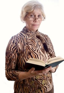 Free Elderly Lady With A Book Royalty Free Stock Image - 23516946