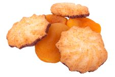 Free Cookies And Dried Apricots Royalty Free Stock Photos - 23517438