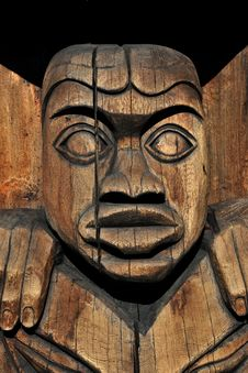 Free Totem In Duncan, Vancouver Island, BC, Canada Stock Image - 23518621