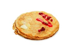 Free Pancake With Cranberry Stock Images - 23519274