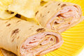 Free Rolled Sandwich With Chips Royalty Free Stock Image - 23520896