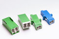 Free Group Of Fiber Optic Adapters SC And LS Royalty Free Stock Photos - 23523098