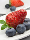 Free Fresh Strawberries And Blueberries Stock Photos - 23529723