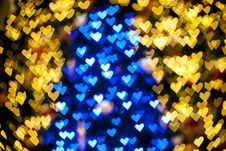 Free Blurred Of Heart Shape Christmas Light Royalty Free Stock Image - 23521886