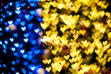 Christmas Gift Box Free Blurred Of Heart Shape Light Royalty Stock Images 23521919