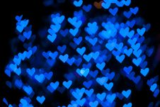 Free Blurred Of Heart Shape Christmas Light Stock Photos - 23522103